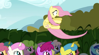Fluttershy blown away S02E19