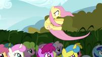 Fluttershy blown away S02E19