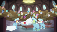 Full view of Ponyville Hospital surgery theater S6E23