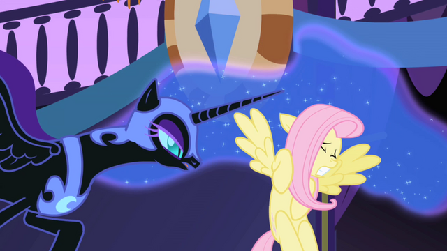 File:Nightmare Moon scares Fluttershy S01E01.png