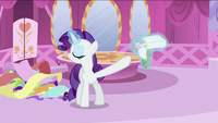 Rarity pushing saddlebag away S2E23