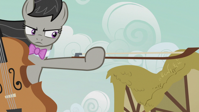 File:Octavia holding out her cello bow S5E9.png