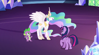 Princess Celestia continuing to laugh S7E1
