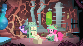 Twilight tries to measure Pinkie's predictions S1E15.png
