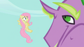 Fluttershy entreats Spike to release Rarity S2E10.png
