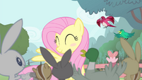 Fluttershy blushing S4E14
