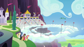 Ponies gather at the Wonderbolts Showcase S7E7.png