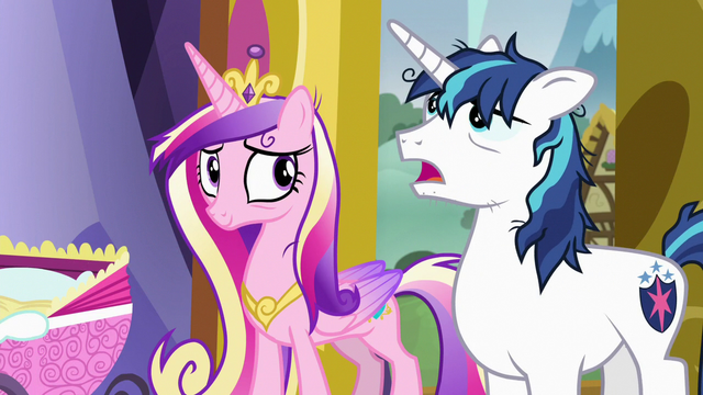 """File:Shining Armor """"did I say that already?"""" S7E3.png"""