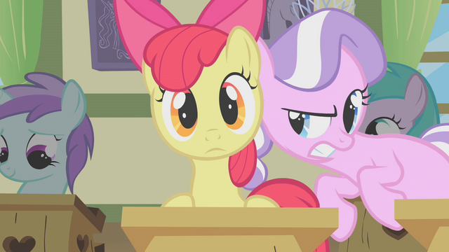 """File:Apple Bloom and Diamond Tiara """"psst!"""" S01E12.png"""