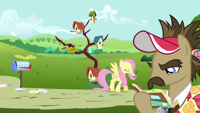 File:Fluttershy walking away with her mail S2E19.png