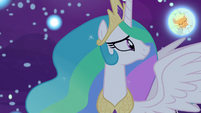 Princess Celestia observes Applejack's dream S7E10