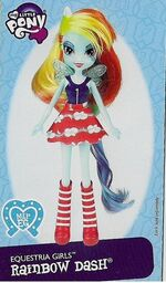 Rainbow Dash Equestria Girls doll pamphlet