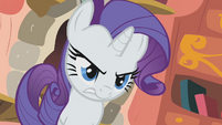 Rarity looking mad and determined S1E8