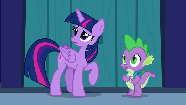 File:Twilight and Spike look at the indoors of the castle S5E26.png