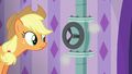 Applejack looking at leaky pipe S6E10.png