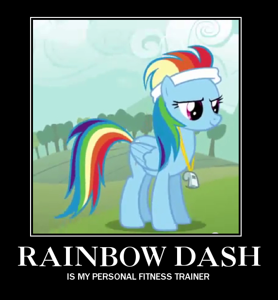 FANMADE Rainbow Dash trainer motivational poster