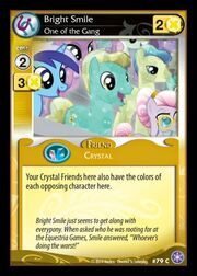 Bright Smile, One of the Gang card MLP CCG