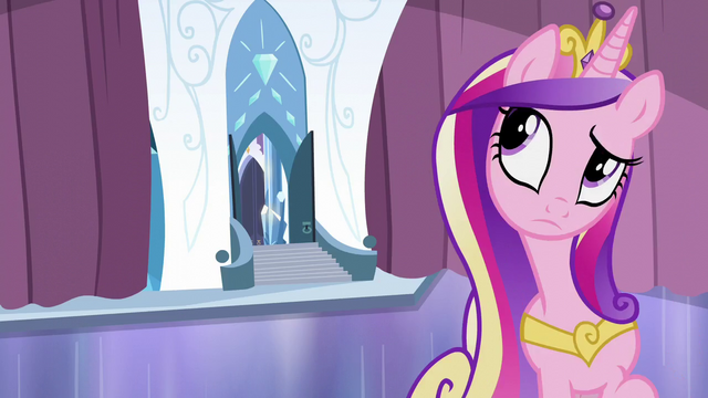 File:Cadance tries to sense where Flurry Heart is S6E2.png
