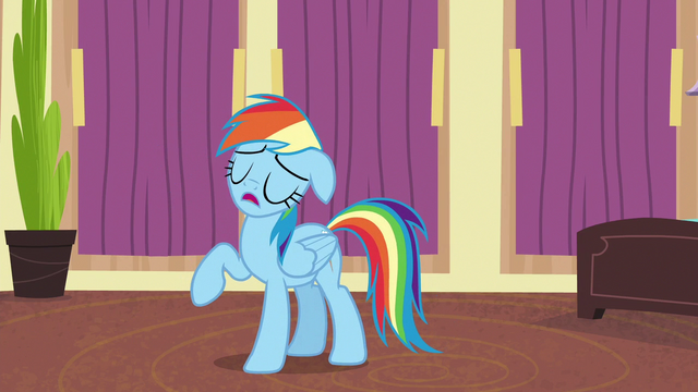 "File:Rainbow Dash ""totally unrealistic and terrible"" S6E13.png"