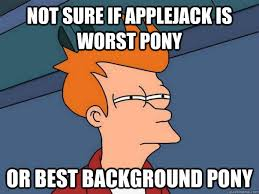 File:Applejack background pony meme.jpg