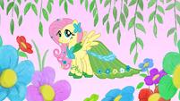 Fluttershy in her gala dress S1E14