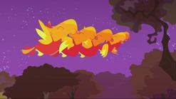 Baby phoenixes blowing raspberry S2E21