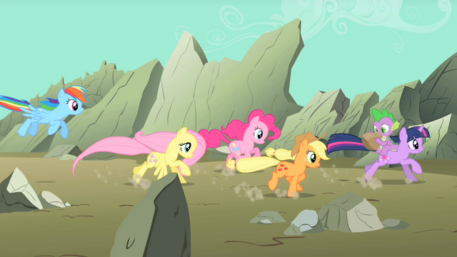File:Main ponies racing to the scene S01E19.png