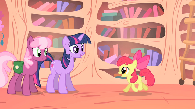 File:Twilight Sparkle and Cheerilee talking to Apple Bloom S1E18.png