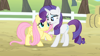Rarity helps Fluttershy get up S4E07