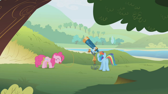 File:Rainbow and Pinkie watching their quarry S1E5.png