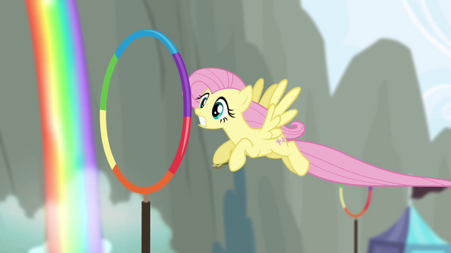 File:Fluttershy flying through hoops S4E10.png