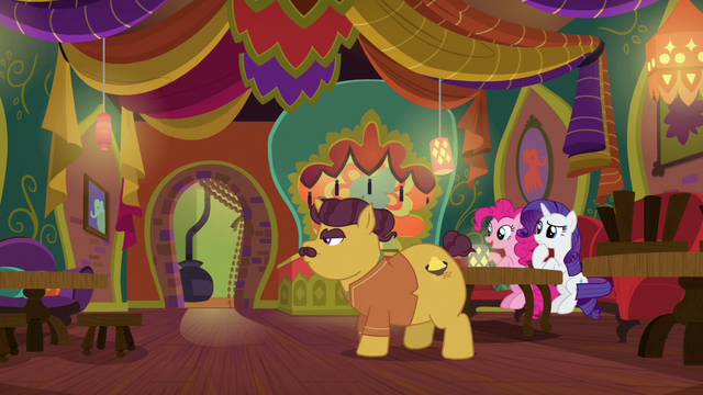 """File:Pinkie Pie """"why are you stacking chairs?"""" S6E12.png"""