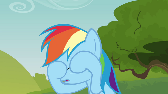 File:Rainbow Dash wiping her eyes S3E03.png