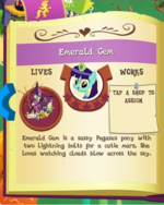 Emerald Gem album MLP Gameloft