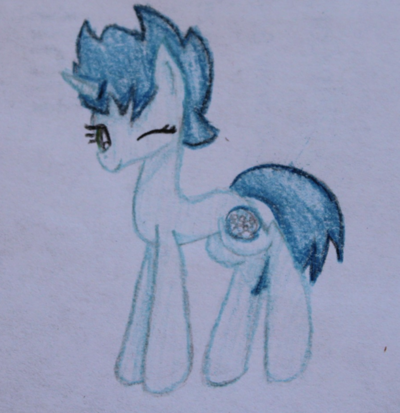 FANMADE Blue Unicorn OC
