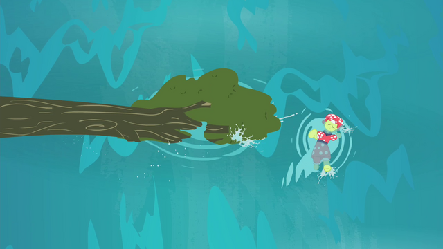File:Granny Smith swimming beside the fallen tree S4E20.png