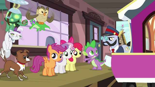 "File:Spike ""is three ponies enough?"" S03E11.png"