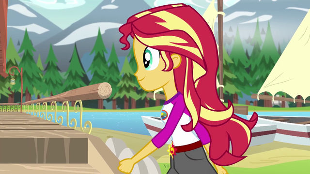File:Sunset Shimmer passing by the camp lakehouse EG4.png