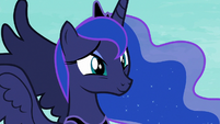 Princess Luna touched by Celestia's words S7E10