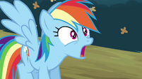 Rainbow with jaw hanging open S4E18
