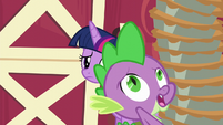 Spike losing his balance S6E10