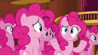 Pinkie Pie clones saying huh S3E03