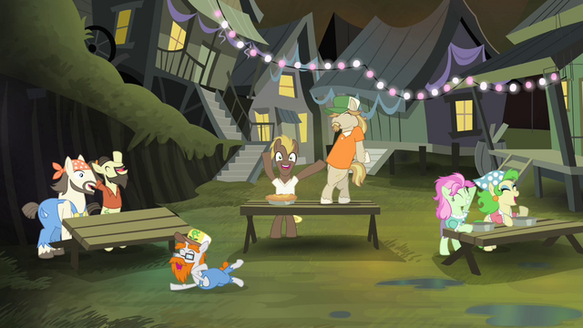 File:Cajun swamp ponies celebrating S4E17.png