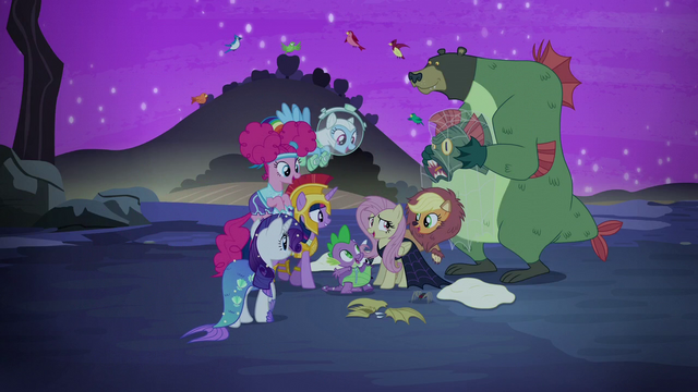 File:Fluttershy's friends gather around her S5E21.png