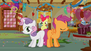 Sweetie Belle and Scootaloo show their blank flanks S1E12.png