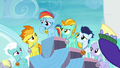 Pegasus foals annoyed by Rainbow's parents S7E7.png