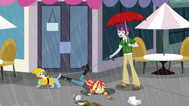 File:Sunset Shimmer trips over a dog leash SS6.png