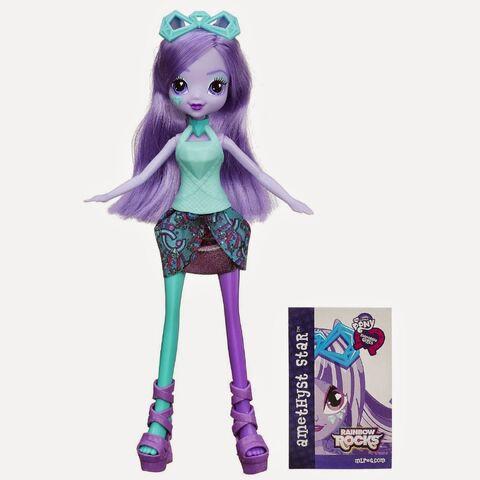 File:Equestria Girls Rainbow Rocks Amethyst Star doll.jpg