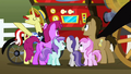Ponies gather around the Super Speedy Cider Squeezy 6000 S2E15.png
