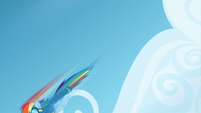 Rainbow Dash flying downward S6E7